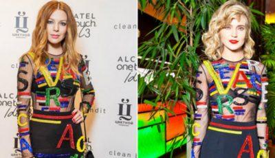 Gluk'oZa și Natalia Podolskaya, în rochii identice. Pe cine stă mai bine?