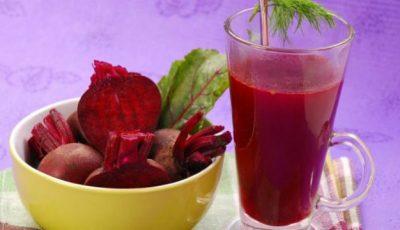 Sucul de sfeclă roşie are efect puternic de dezintoxicare al ficatului şi bilei