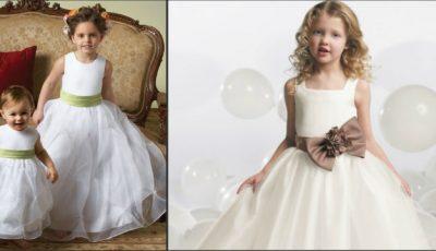 Cum îmbraci micile prinţese la nuntă?