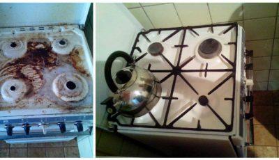 Produsele din bucătărie care curăță grăsimea de pe aragaz în 5 minute
