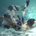 Foto: Modelele cad în apă! Cea mai deosebită prezentare de modă