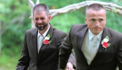 FOTO! Gestul unui tată la nunta fiicei sale i-a făcut pe invitați să plângă