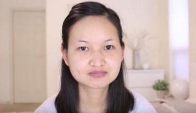 Nu a mai apelat până acum la un make-up artist. E de nerecunoscut!