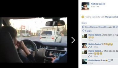 Copil de doar 9 ani filmat în timp ce conduce o mașină prin Chișinău