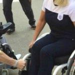 Foto: O prezentatoare din Rusia, în scaun cu rotile!