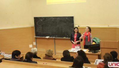 """Profesorii de la Universtitatea """"Ion Creangă"""" au avut parte de o lecție de sport și nutriție marca Unica Sport!"""