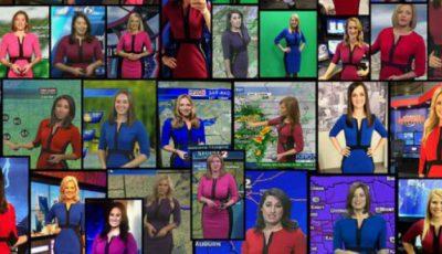 Zeci de prezentatoare meteo s-au îmbrăcat la fel. Motivul este bizar!