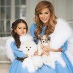Foto: Ksenia Borodina și fiica ei, îmbrăcate la fel!