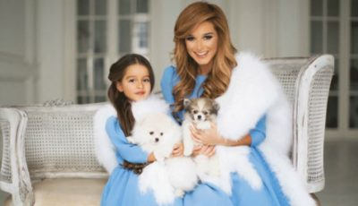 Ksenia Borodina și fiica ei, îmbrăcate la fel!