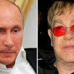 Foto: Putin l-a sunat pe Elton John să discute despre gay!