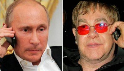 Putin l-a sunat pe Elton John să discute despre gay!