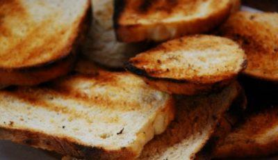Pericolul cancerigen din pâinea prăjită
