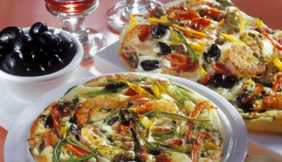 Pizza de post! Cu ardei gras și măsline