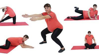 5 exerciții pentru graviduțele energice!