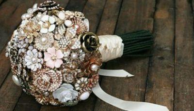 Buchete de mireasă din bijuterii…și alte curiozități la nunțile originale