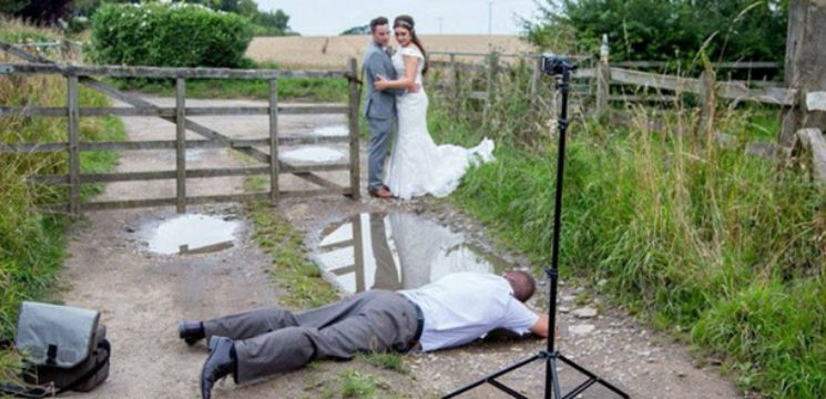 Foto: Pozele de nuntă înainte și după prelucrare!
