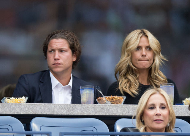 Heidi Klum and Vito Schnabel at the Mens Singles Finals on Day Fifteen of the 2014 US Open