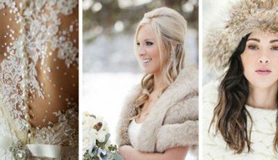Iarna înlocuim rochia de mireasă cu…