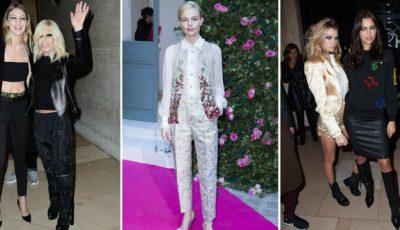 Așa s-au îmbrăcat vedetele la Săptămâna Haute Couture de la Paris