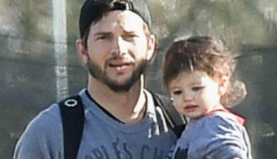 Cele mai simpatice fotografii tată-fiică! Ashton Kutcher și fiica sa, distracție în parc!
