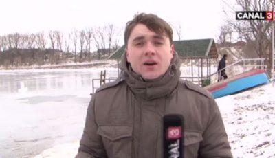 Nu ai să crezi. Ce a făcut un reporter din Moldova de Bobotează!