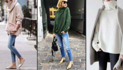 Cu ce să combini puloverul pe gât! 20 idei chic