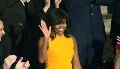 Rochia lui Michelle Obama s-a vândut în timp record pe internet!