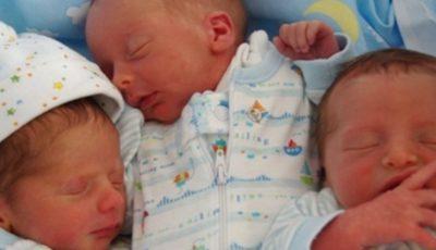 Un cuplu de moldoveni din Italia au devenit părinți de tripleţi