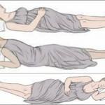 Foto: Poziţia de dormit recomandată gravidelor