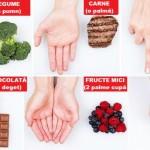 Foto: Iată cum poţi calcula uşor mărimea porţiilor de alimente cu ajutorul mâinii!