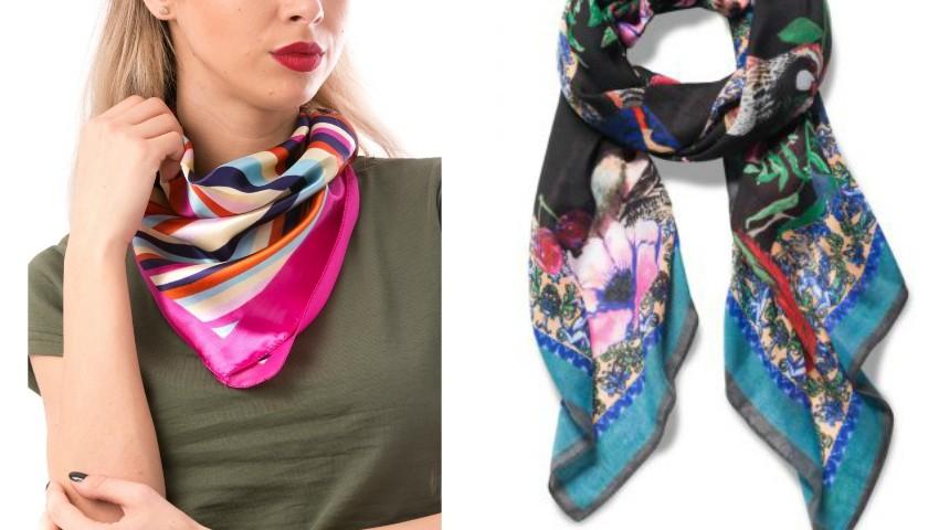 Foto: 3 moduri stilate de a purta eșarfa!