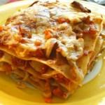 Foto: Lasagna de post cu ciuperci