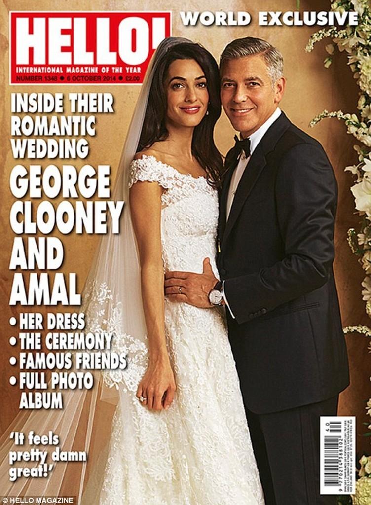 Amal Alamuddin a purtat o rochie Oscar de la Renta de 380000 de dolari