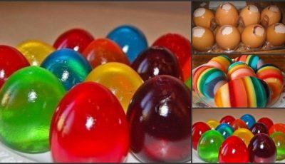 Cum prepari de Paşti ouă colorate din jeleu!