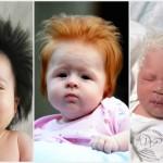 Foto: Poze! Bebeluşi cu cea mai bogată podoabă capilară la naştere
