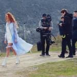 Foto: Lidia Isac filmează cartea de vizită pentru Eurovision!