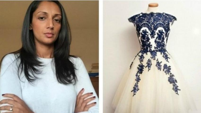 Foto: Și-a cumpărat rochia de mireasă online. A fost în stare de panică când a văzut-o!
