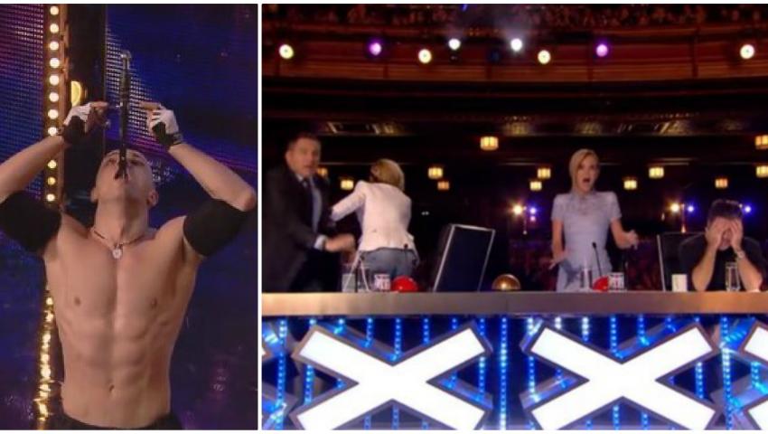"""Foto: Un moldovean i-a băgat în sperieți pe jurații de la """"Britain's Got Talent"""""""