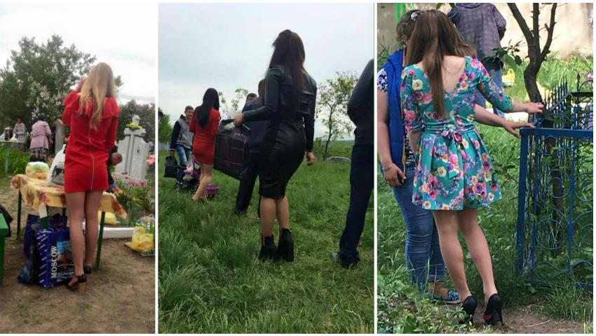 Foto: Cât de îndrăzneț s-au îmbrăcat moldovencele de Paștele Blajinilor