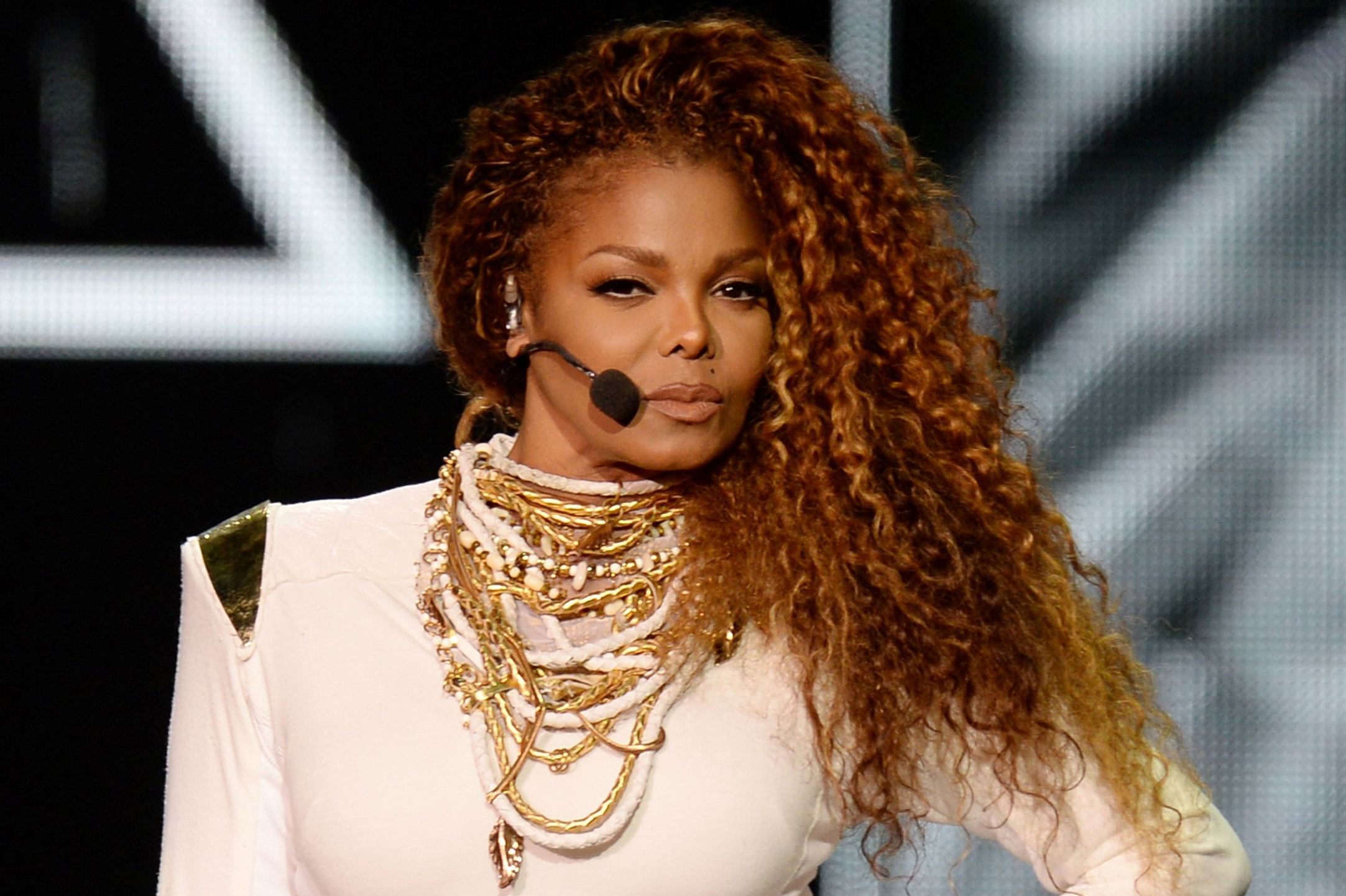 Miami, FL - Miami, FL - Janet Jackson performs live in concert at the American Airlines Arena as part of the 2015 Unbreakable World Tour in Miami, FL.   09/20/2015  Copyright © 2014 AKM-GSI, Inc.      To License These Photos, Please Contact :  Maria Buda  (917) 242-1505  mbuda@akmgsi.com or    Steve Ginsburg  (310) 505-8447  (323) 423-9397  steve@akmgsi.com  sales@akmgsi.com