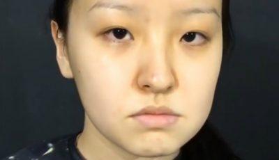 Cum s-a transformat această tânără după o ședință de make-up!