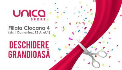 Se deschide o nouă sală Unica Sport în sectorul Ciocana. Beneficiază de 70% reducere!