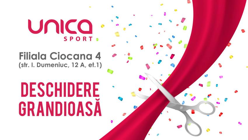 Foto: Se deschide o nouă sală Unica Sport în sectorul Ciocana. Beneficiază de 70% reducere!