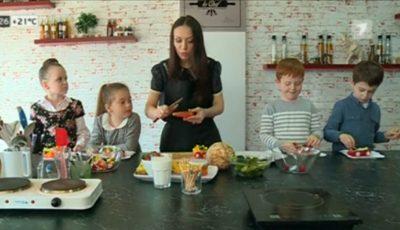 Galina Tomaș îi învață pe cei mici să se alimenteze sănătos!