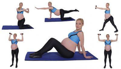 6 exerciții pentru brațe, picioare și fese ferme în timpul sarcinii!