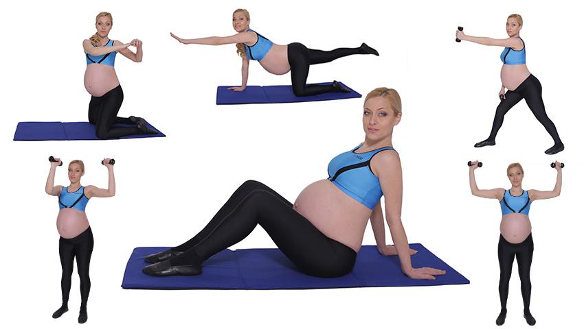 Foto: 6 exerciții pentru brațe, picioare și fese ferme în timpul sarcinii!