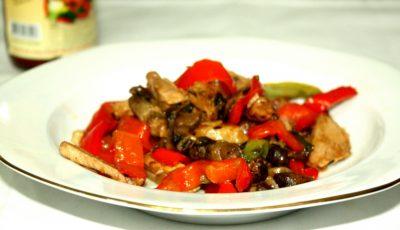 Carne de vită cu sos de piper negru