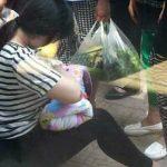 Foto: S-a oprit pentru a alăpta un copil abandonat într-o cutie pe o stradă!