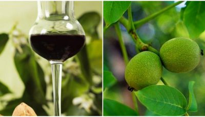 Lichior medicinal de nuci verzi