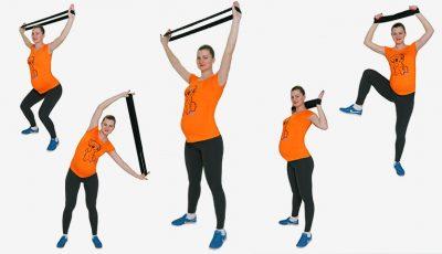 4 exerciții pentru talie și brațe tonifiate în timpul sarcinii!